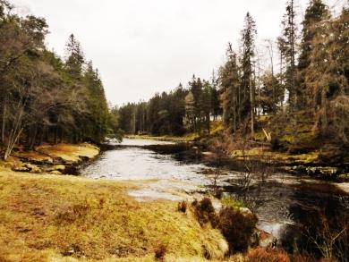 Winter at the River Dee at Braemar