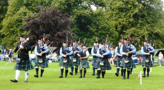 Strathpeffer Pipe Band at the Strathpeffer Games